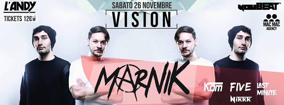 VISION presenta: MARNIK [26.11.2016]