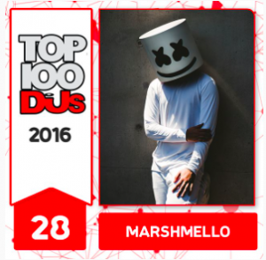 marshmello - #28 DJ Mag Top 100 DJs 2016