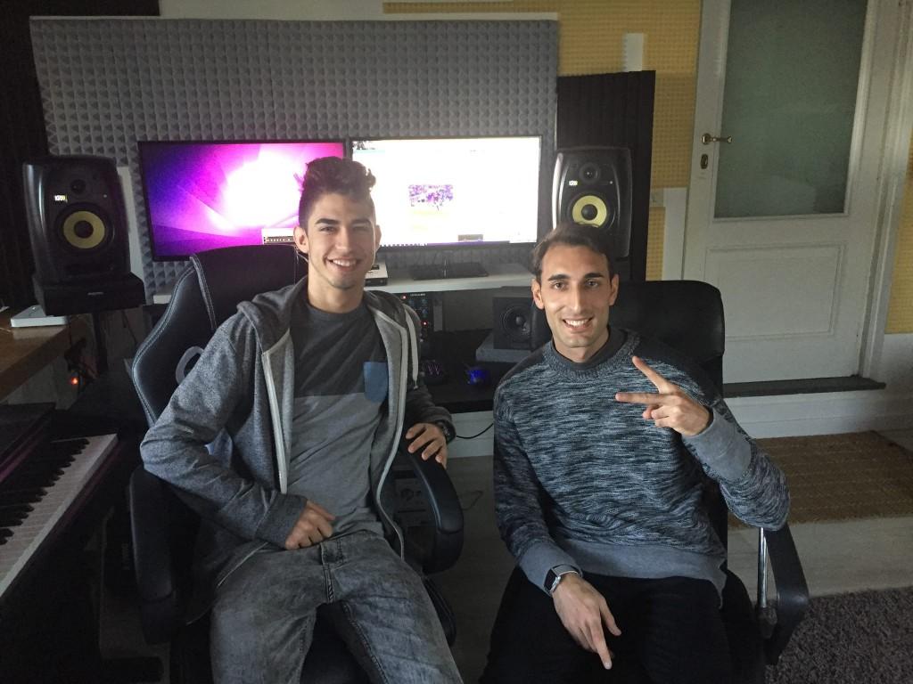 Drew Trax e Rino Esposito in studio