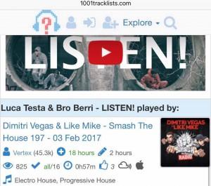 """DV&LM support """"Luca Testa & Bro Berri - Listen!"""""""