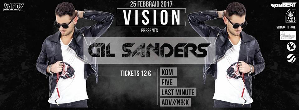 VISION presenta: GIL SANDERS