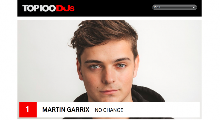 DJ Mag Top 100 Djs 2018 - Martin Garrix