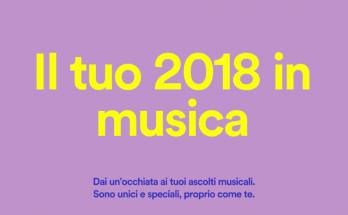 SpotifyWrapped - Il tuo 2018 in musica