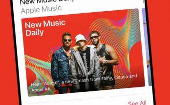 "Apple Music ""New Music Daily"" playlist"