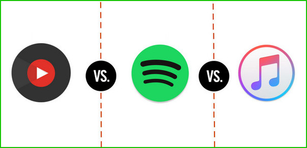 YouTube vs Spotify vs Apple Music