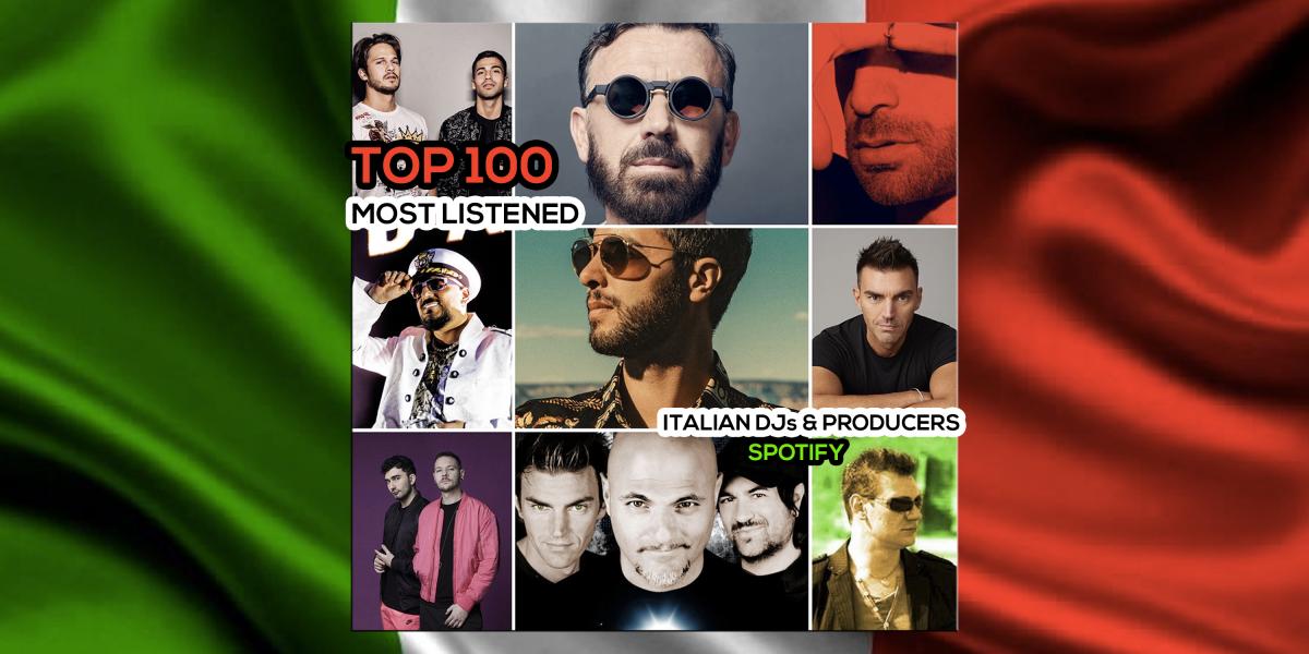 Spotify - Top 100 most listened italian artists