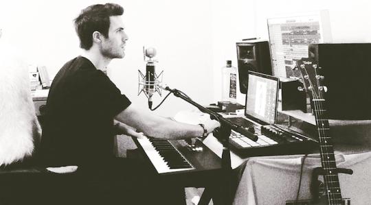 Emmit Fenn in studio